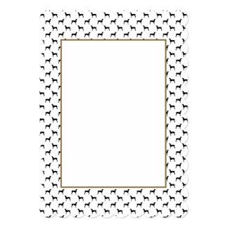 Weimaraner Silhouettes in Black & White 5x7 Paper Invitation Card