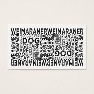 Weimaraner Typography Business Card