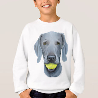 Weimaraner with Tennis Ball Sweatshirt