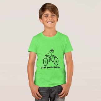 Weird Human Behavior Bicycle Kids Crew T-Shirt