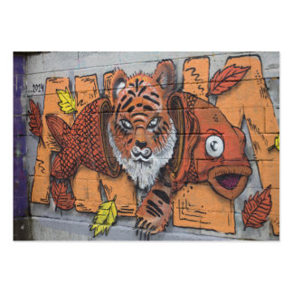 Weird Orange Tiger Fish Graffiti Pack Of Chubby Business Cards