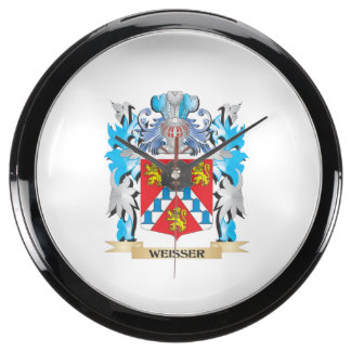 Weisser Coat of Arms - Family Crest Fish Tank Clocks