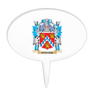 Weisser Coat of Arms - Family Crest Cake Pick
