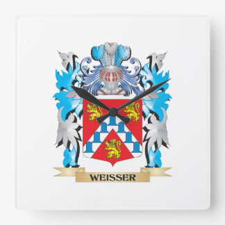 Weisser Coat of Arms - Family Crest Square Wall Clock