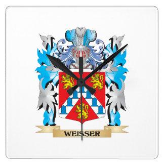 Weisser Coat of Arms - Family Crest Wallclock