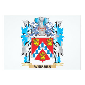 """Weisser Coat of Arms - Family Crest 5"""" X 7"""" Invitation Card"""