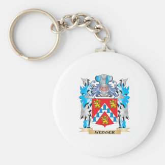 Weisser Coat of Arms - Family Crest Basic Round Button Key Ring