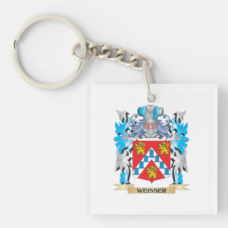 Weisser Coat of Arms - Family Crest Single-Sided Square Acrylic Keychain