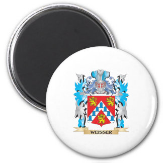 Weisser Coat of Arms - Family Crest 6 Cm Round Magnet