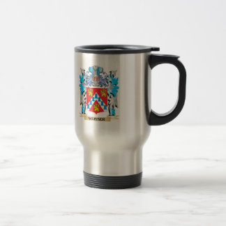 Weisser Coat of Arms - Family Crest Stainless Steel Travel Mug