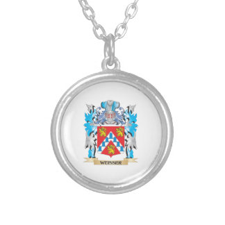 Weisser Coat of Arms - Family Crest Round Pendant Necklace