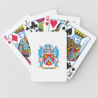 Weisser Coat of Arms - Family Crest Bicycle Playing Cards