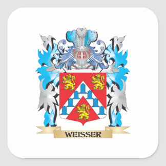 Weisser Coat of Arms - Family Crest Square Sticker