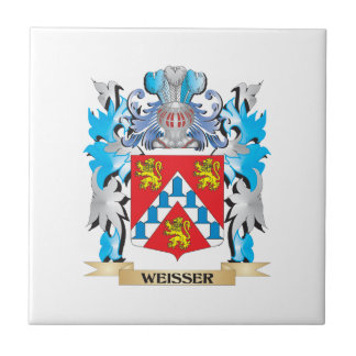 Weisser Coat of Arms - Family Crest Small Square Tile