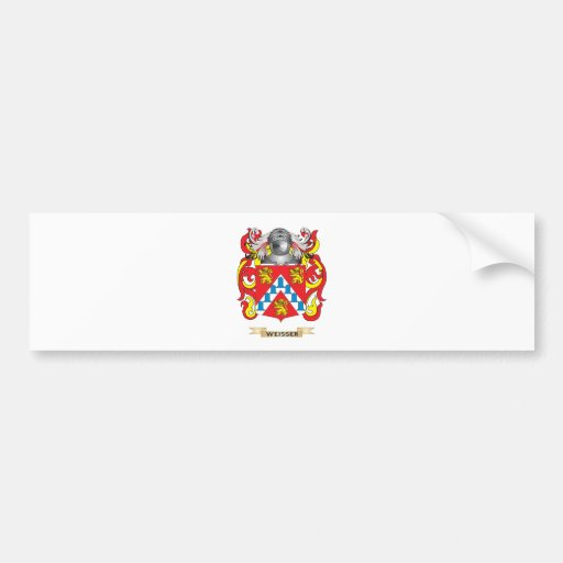 Weisser Family Crest (Coat of Arms) Bumper Stickers
