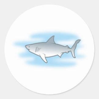 weisser Hai white shark Runder Sticker