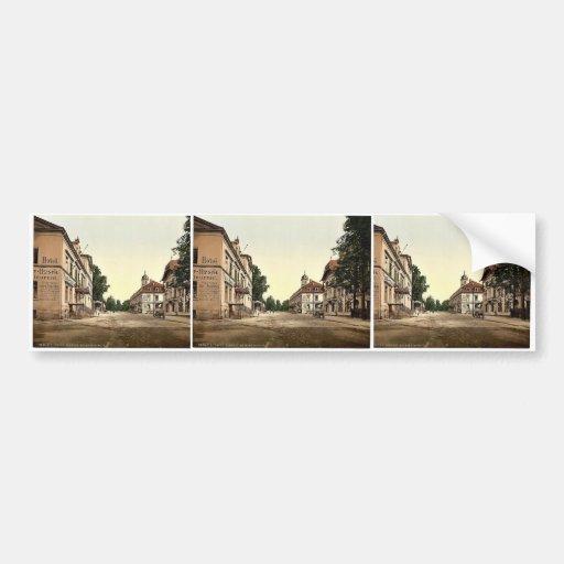 Weisser Hirsch, Saxony, Germany rare Photochrom Bumper Sticker