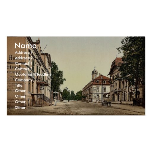 Weisser Hirsch, Saxony, Germany rare Photochrom Business Card Templates