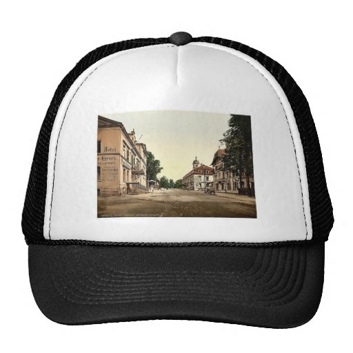 Weisser Hirsch, Saxony, Germany rare Photochrom Hat