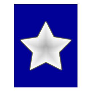 weisser Stern white star Postkarte