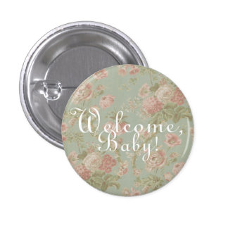 """Welcome, Baby!"" Baby Shower Buttons"