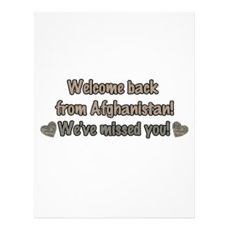 Welcome Back from Afghanistan 21.5 Cm X 28 Cm Flyer