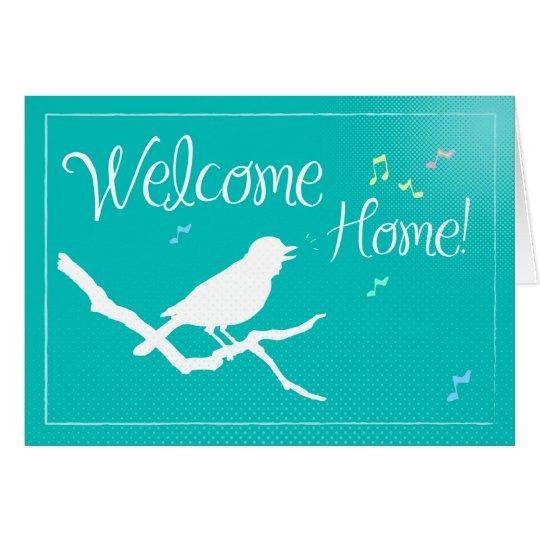 Welcome Home Bird Silhouette Card