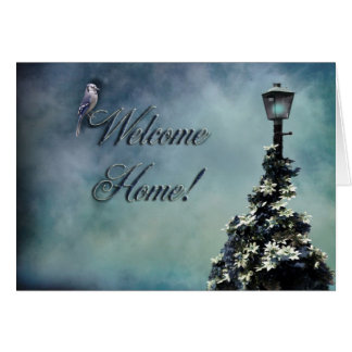 welcome home greeting card