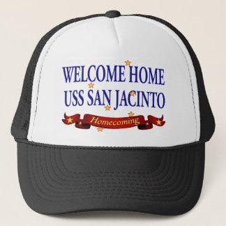 Welcome Home USS San Jacinto Trucker Hat