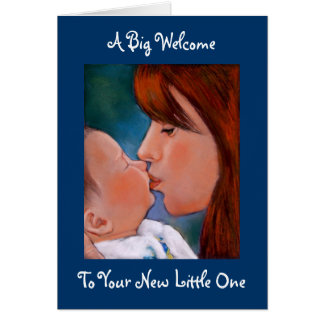 Welcome To Baby: Original Pastel Art Card