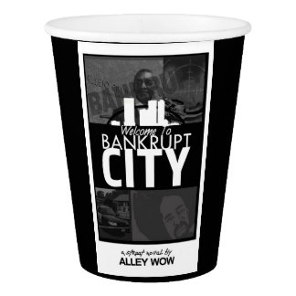 welcome to bankrupt city coffee cups