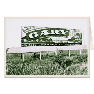 Welcome to Gary Indiana (vintage sign) Card