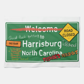 Welcome To Harrisburg North Carolina Hand Towels
