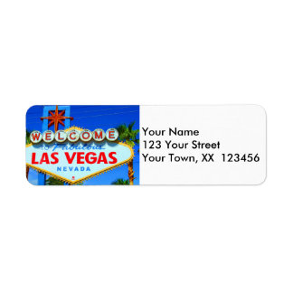 Welcome to Las Vegas Return Address Labels