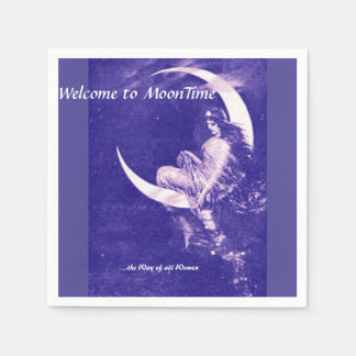 Welcome to MoonTime, purple Paper Serviettes