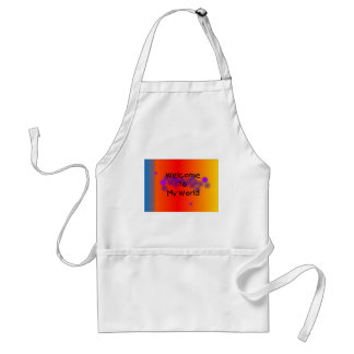 Welcome to My World Apron