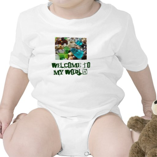 Welcome to My World Baby Creepers Beach Coast Bodysuits