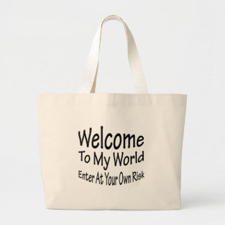 Welcome To My World Canvas Bags
