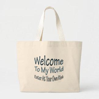 Welcome To My World blu Bag