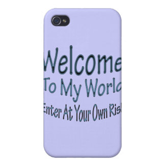 Welcome To My World blu iPhone 4 Cover