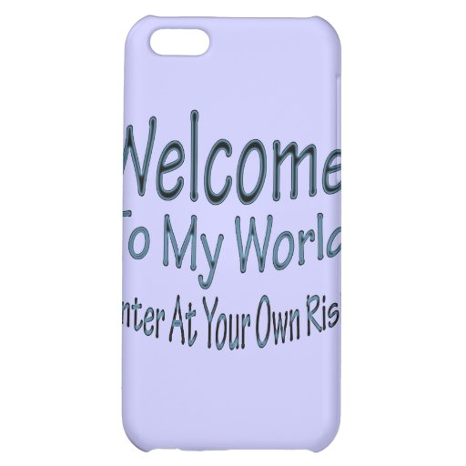 Welcome To My World blu iPhone 5C Case