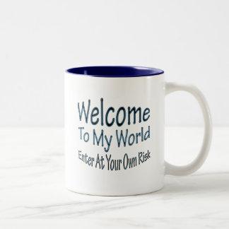 Welcome To My World blu Coffee Mug