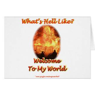 Welcome to my World Card