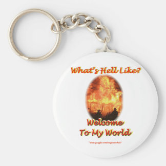 Welcome to my World Keychain