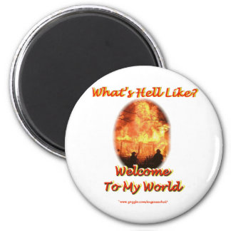 Welcome to my World 6 Cm Round Magnet