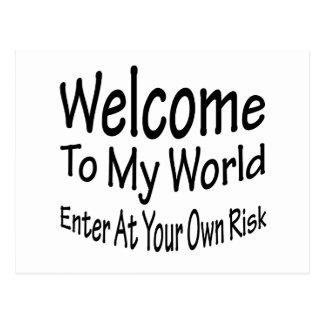 Welcome To My World Postcard