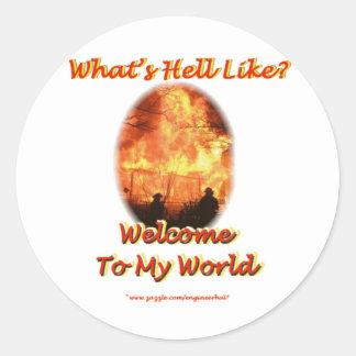 Welcome to my World Round Sticker