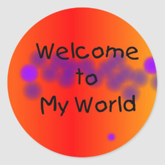 Welcome to My World Stickers