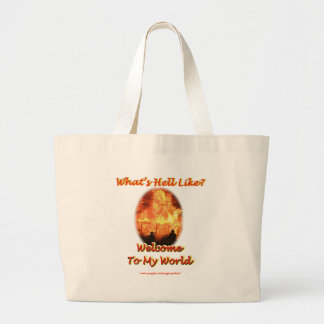 Welcome to my World Canvas Bag