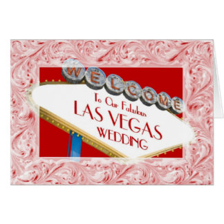 Welcome To Our Fabulous Las Vegas Wedding Ornate F Card